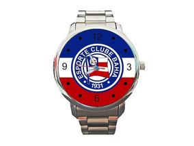 Relógio Bahia Futebol Esquadrão De Aço Bola Leão Da Barra