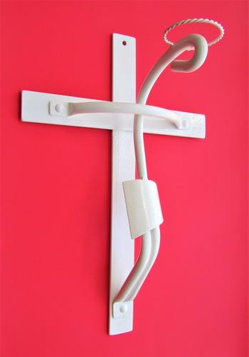 Imagen 1 de 3 de Cruz Crucifijo Cristo Forjado De Pared