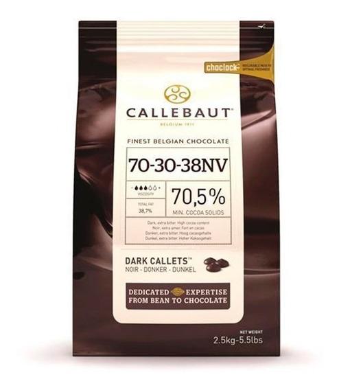 Chocolate Gotas Callebaut Amargo 703038 (70,5 Cacau) 2,5kg