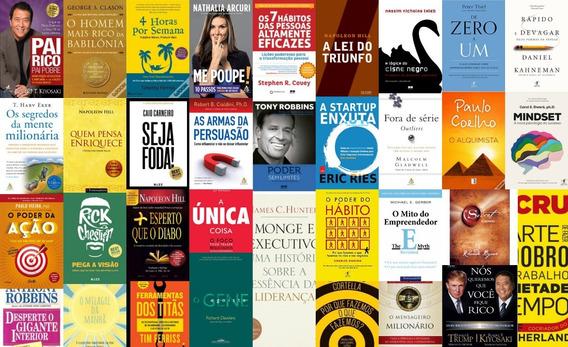 Kit +40 Livros Empreendedorismo Pai Rico Pai Pobre E Outros