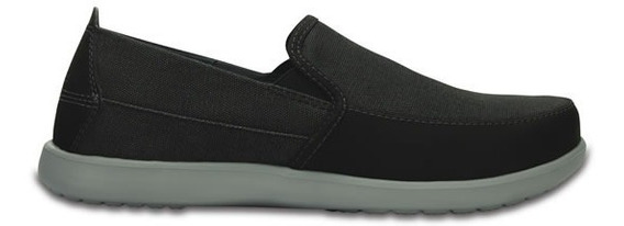 Zapato Crocs Caballero Santa Cruz Deluxe Slip On M Negro