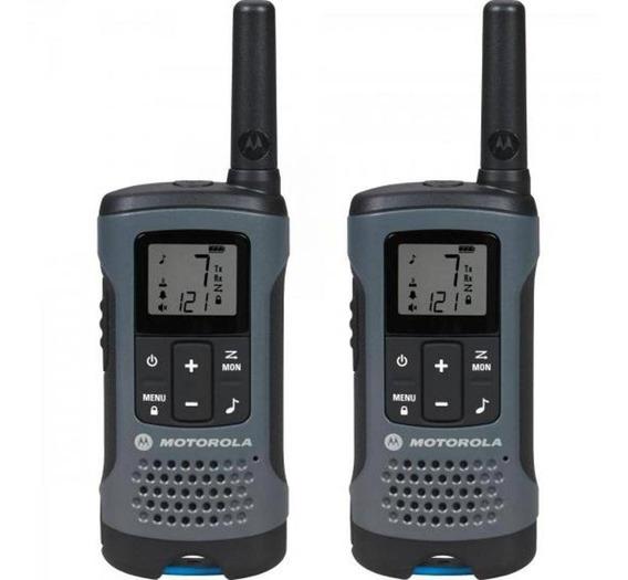 Radio Comunicador Motorola Talkabout 32km T200br Cinza