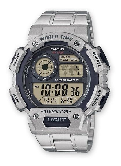 Casio Illuminator Reloj Reloj Sport Acero World Time Msi Ng