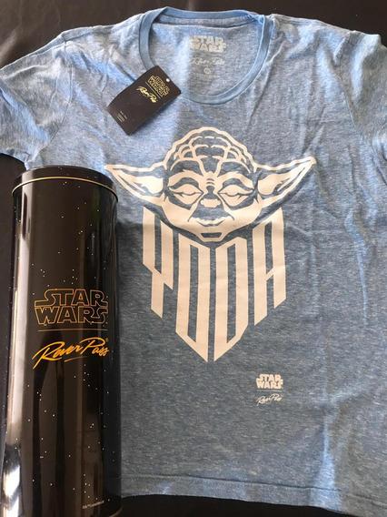 Remera Algodón Orgánico Yoda Star Wars En Lata