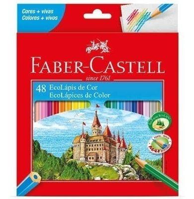 Lápis 48 Cores Sextavado Faber Castell Cod. 120148