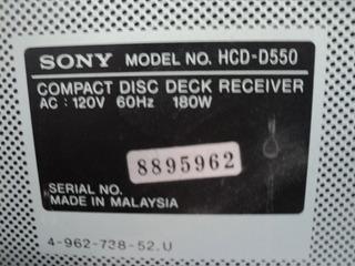 Modular Sony Hcd 550 Refacciones
