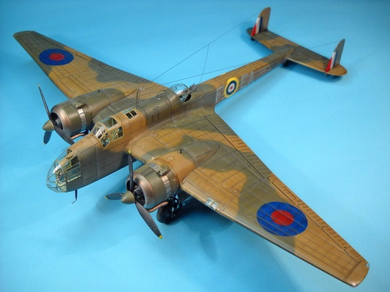 Projeto Pdf Papercraft Bombardeiro Hampden Mk I 1:33