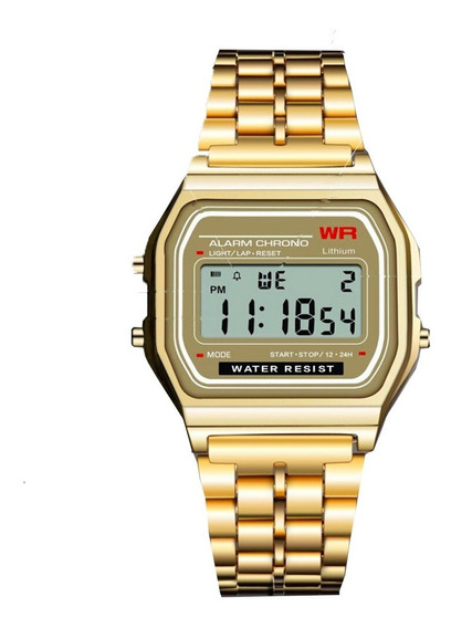Reloj Retro Led Digital De Acero