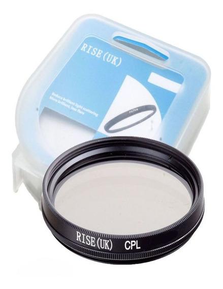Filtro Cpl Circular Polarizador P Lente Rosca Filtro De 77mm