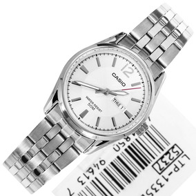 Relógio Casio Feminino Ltp-1335d-7av Mostrador Prata 50m
