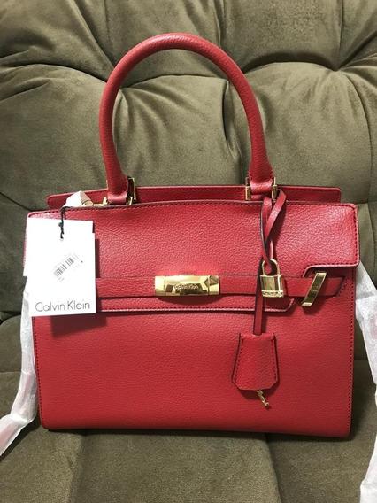 Bolsa Calvin Klein Vermelha Original Comprada Nos Eua