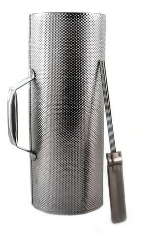 Guiro Metal Con Raspador 32x10cm Guira Merengue Cumbia