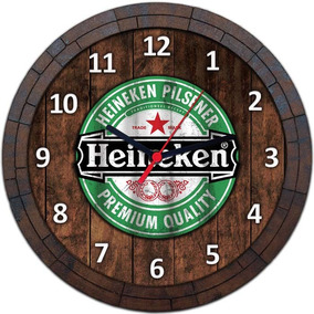 Relógio De Parede Quadro Tampa De Barril Cerveja Bebida W065