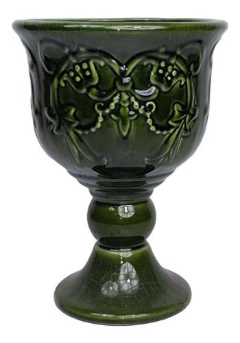 Vaso Taça G Verde   20 Larg X 28 Alt X 20 Prof