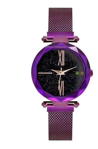 4 X Relógio Luxo Céu Estrelado Ímã Fivela