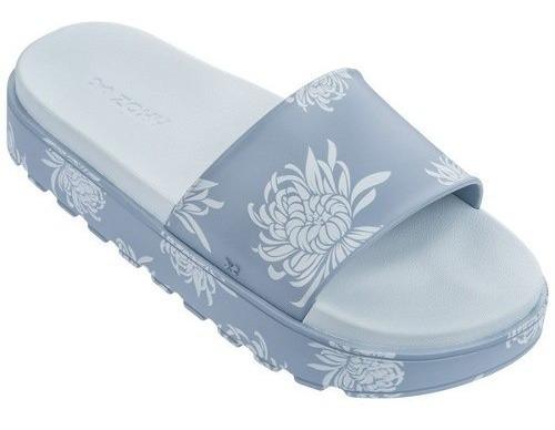 Chinelo Slide Zaxy Upload Trendy 17530 - Azul