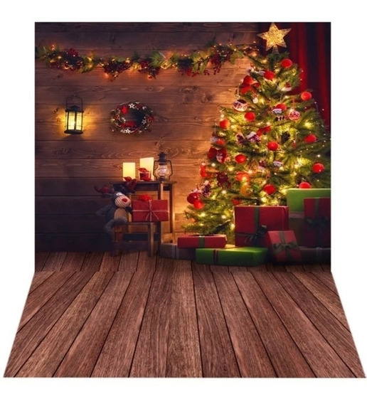 Fundo Fotográfico De Natal Em Tecido - Usado - 2,20x1,5