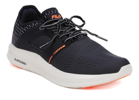 Tênis Esportivo Masculino Fila Fit Tech Preto/laranja 44