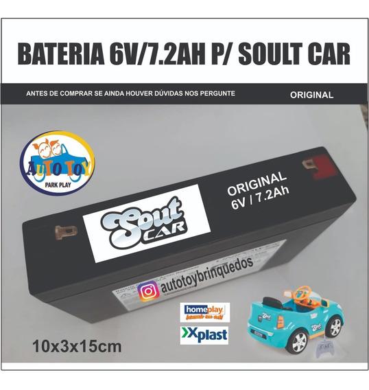 Soult Car 650 - Só A Bateria 6v/7.2ah Original (10x3x15cm)