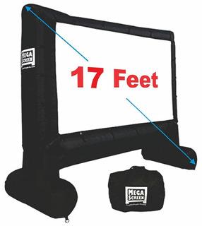 Ecran Inflable De Proyección Xl Mega Portable 5mts Diagonal