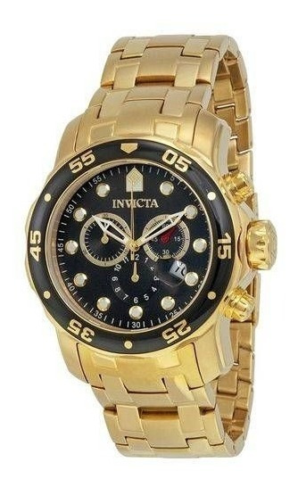 Relógio Invicta Pro Diver Plaque Ouro (0072) Outlet Ofertão