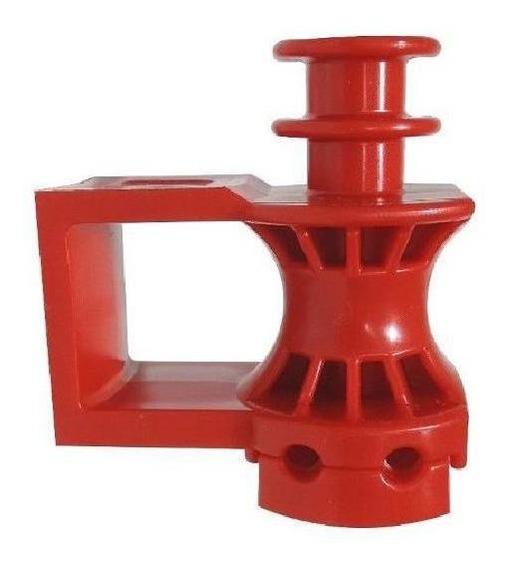 Suporte Dielétrico 3x1 Roldana Drop Sipa (100 Unid Vermelho)