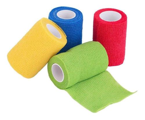 Kit C/5 Bandagens Flexível - Elástica Envio 24h