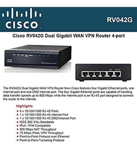 Cisco Rv042g Dual Wan Balanceador
