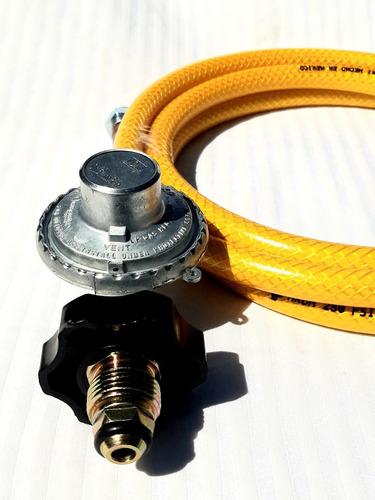 Imagen 1 de 8 de Manguera Amarilla Para Gas 3mts Cn Regulador De Baja Presión