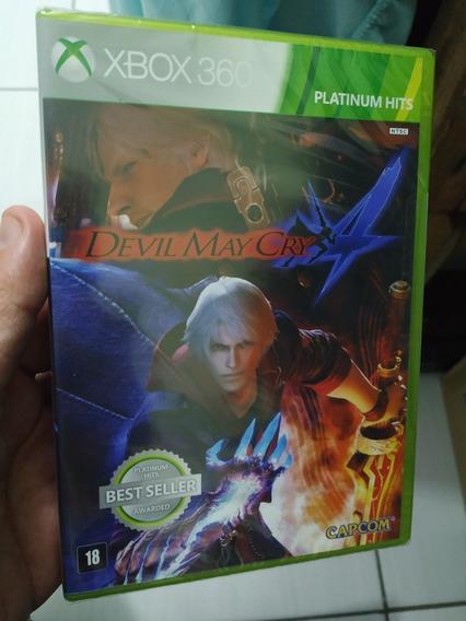 Devil May Cry 4 Xbox 360 Novo Lacrado Mídia Física