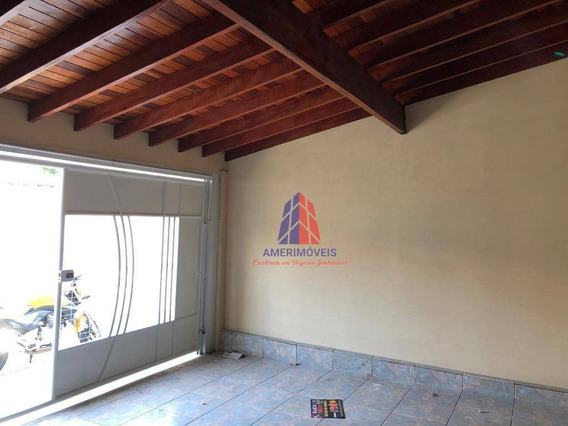 Casa Com 3 Dormitórios À Venda - 128 M² Por R$ 265.000 - Parque Liberdade - Americana/sp - Ca0887
