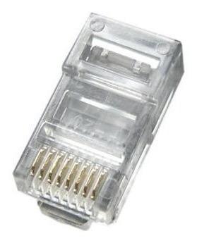 Kit 100 Conectores Rj-45 Cat5e Gigabit Ethernet 30m Gold