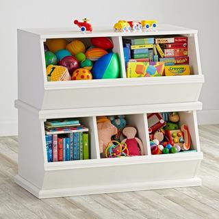 Organizador De Brinquedos Branco 40x80x100cm