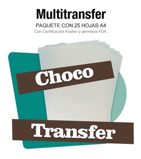Chocotransfer Paq De 25 Para Impresión Comestible