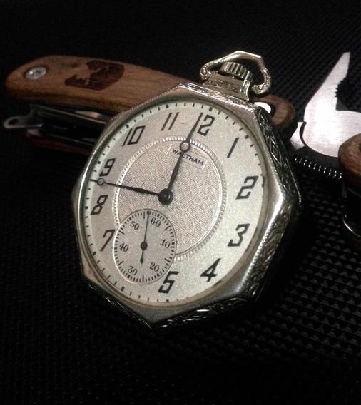 Reloj Waltam Completo Oro Blanco De 1926
