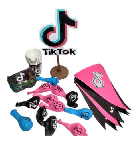 Kit Fiesta Cumpleaños Tick Tock Tik Tok Set Decoración
