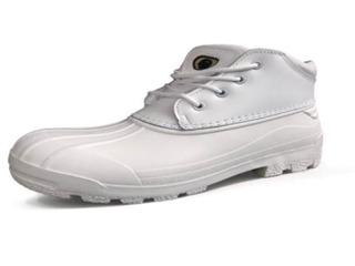 Zapato Trabajo Cuero Flor Nicmar Botines y Zapatos Blanco