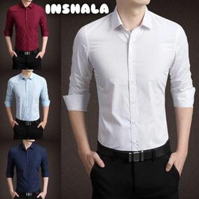 60140b1de74 Camisa Hombre Entallada Slim Fit Vs Colores Ideal Oficina