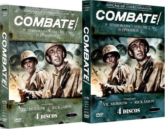 Boxes Dvd Combate! 3ª Temporada Vols. 1 E 2 Lacrados!