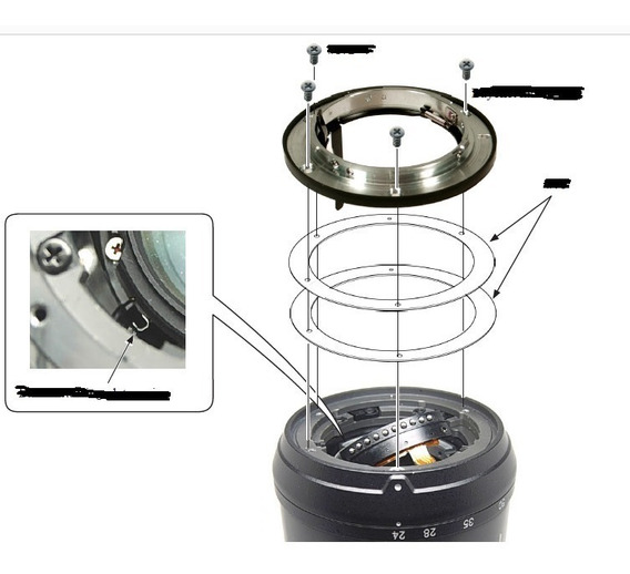 Manual Lente Nikon 24-70mm P/ Desmontagem E Reparos