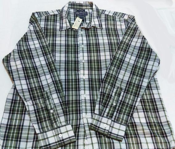 Camisa De Hombre American Eagle, Azul/verde, Talla L. Nueva,