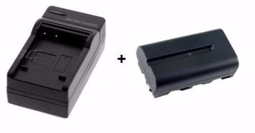 Bateria Np-f550 + Carregador Para Led F330 F970 F770 F570