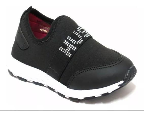 Zapatillas Elastizadas Hush Puppies Negras Nuevas Reforzadas