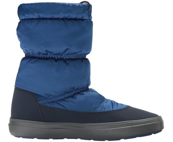 Bota De Luvia Mujer Crocs Lodgepoint Shiny Pull On Boot W
