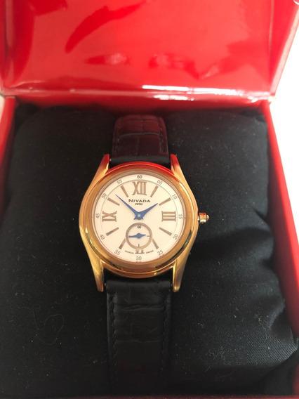 Reloj Nivada Swiss Modelo Ng27261ldorbr Piel
