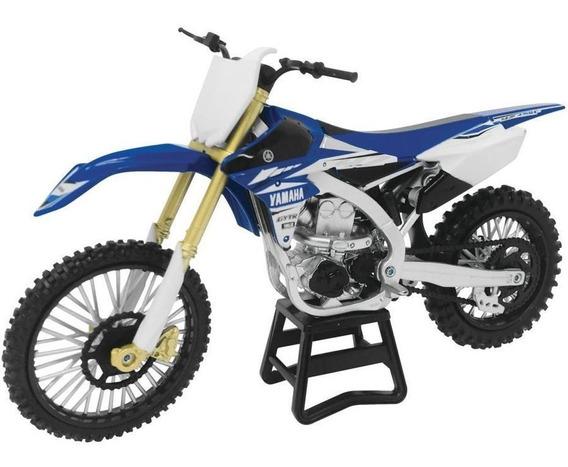 Moto Yamaha Yz450f Escala 1:12 New Ray Azul
