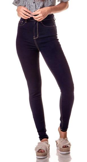 Calça Fem Skinny Cintura Alta Escura Denim Zero-dz2371-11