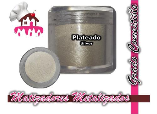 Imagen 1 de 4 de Matizadores Comestibles Plateado / Silver 5g Tortasvisochile