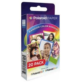 Filme Polaroid Color Zink Zip Snap Papel 2x3(20-impressões)