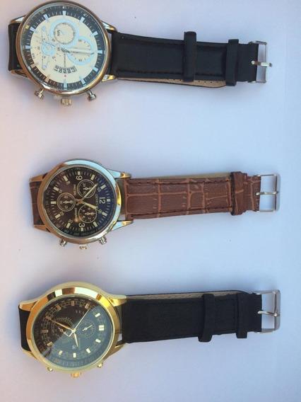 Relógios Pulseira Em Couro, Promoção Escolha Um Modelo.